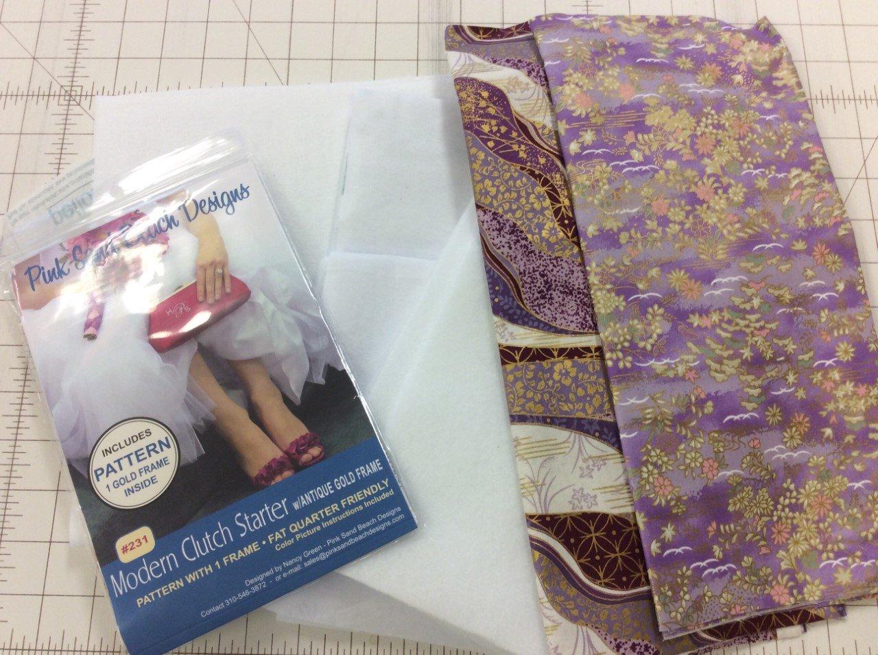Pink Sands-Modern Clutch Kit-Purple floral