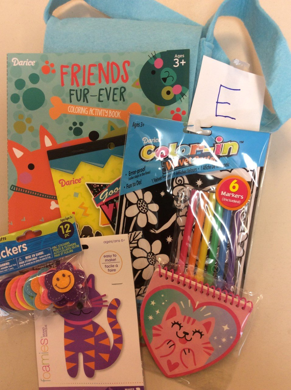 Busy Bags-E-mixed bag of children's craft supplies/projects
