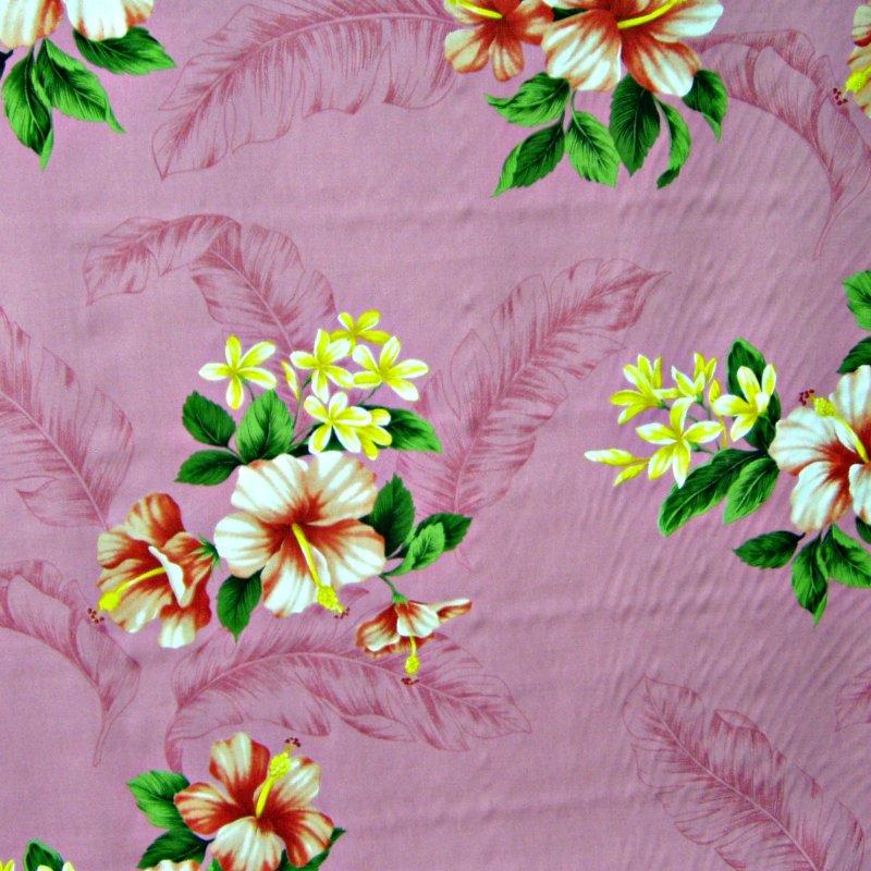 Hibiscus Floral Print - Pink