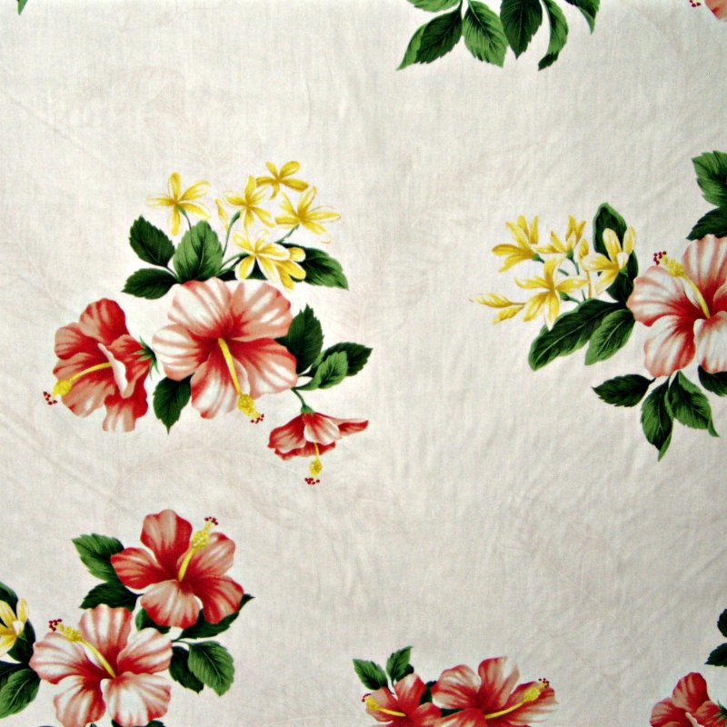 Hibiscus Floral Print - White
