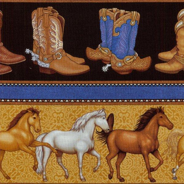 Saddle Up - Horses & Boots - Black
