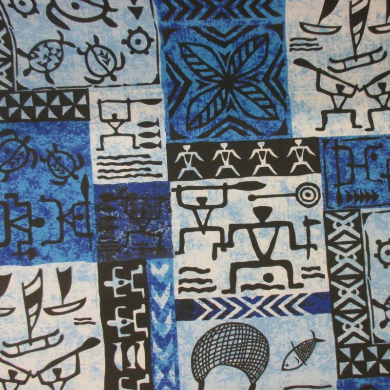 Fishing Village Tapa (Blue)