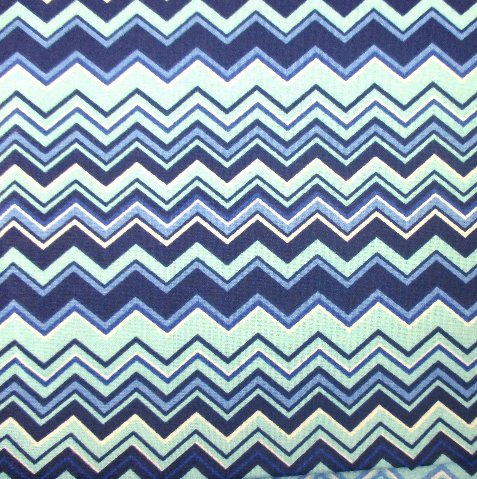 A.E. Nathan - Chevron - Blue/Aqua/White