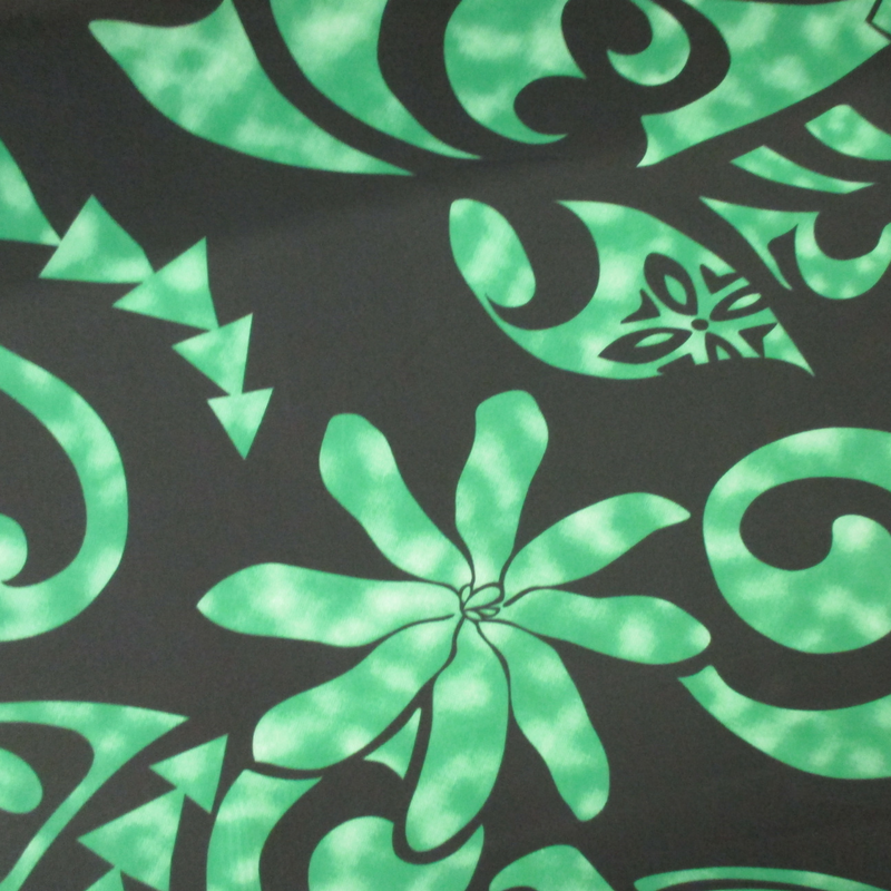 Tribal Tiare - Black/Green