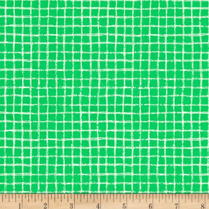 Michael Miller - Pretty Grid - Green