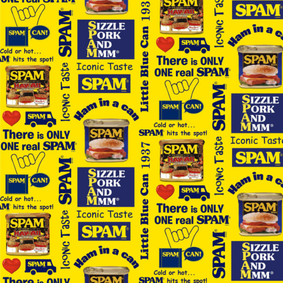 Michael Miller - SPAM Yellow - Quilting Cotton