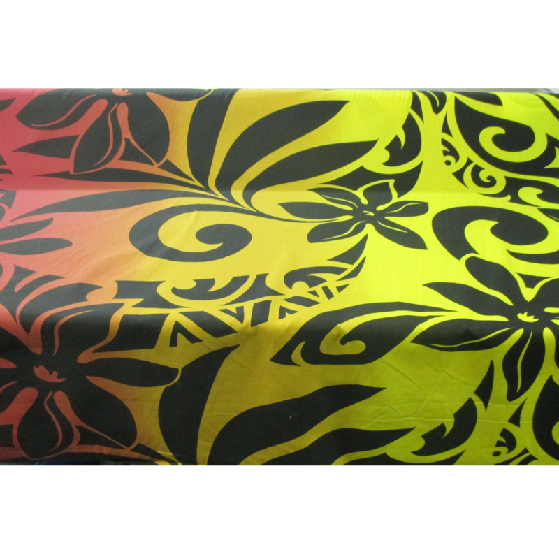 Tiare & Tribal Ombre (Yellow/Red)