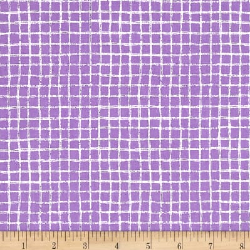 Michael Miller - Pretty Grid - Purple