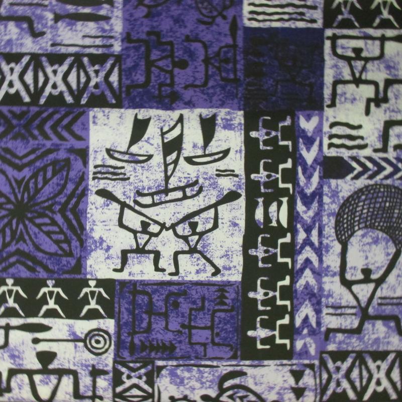 Fishing Village Tapa (Purple)