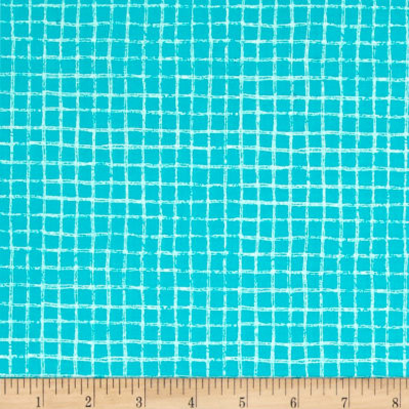 Michael Miller - Pretty Grid - Turquoise