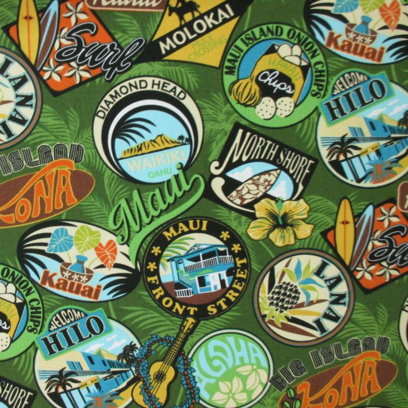 Vintage Hawaii Logos - Green