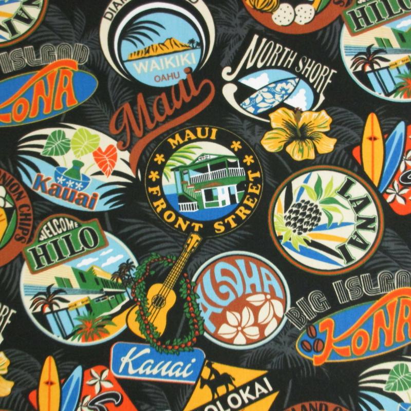 Vintage Hawaii Logos - Black