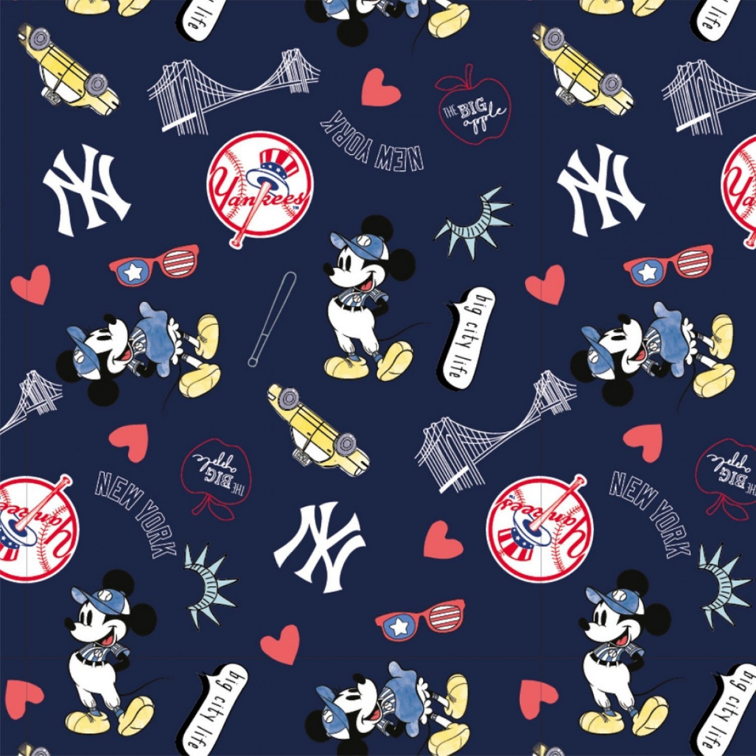 MLB x Disney - NY Yankees & Mickey & Minnie