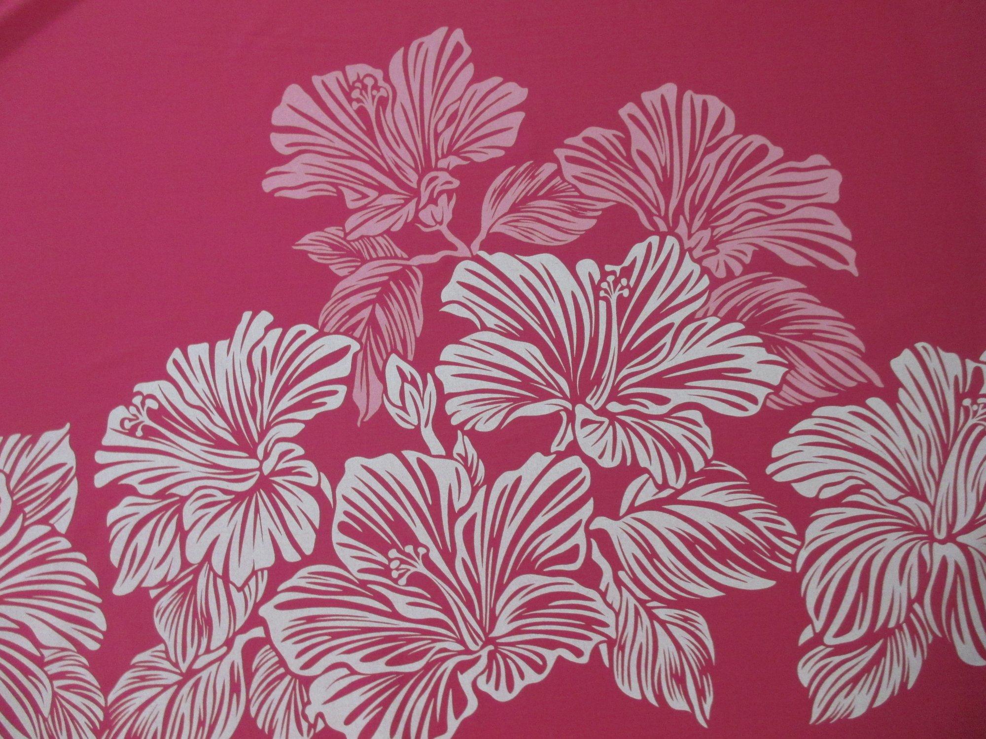 Large Hibiscus Border - Pink