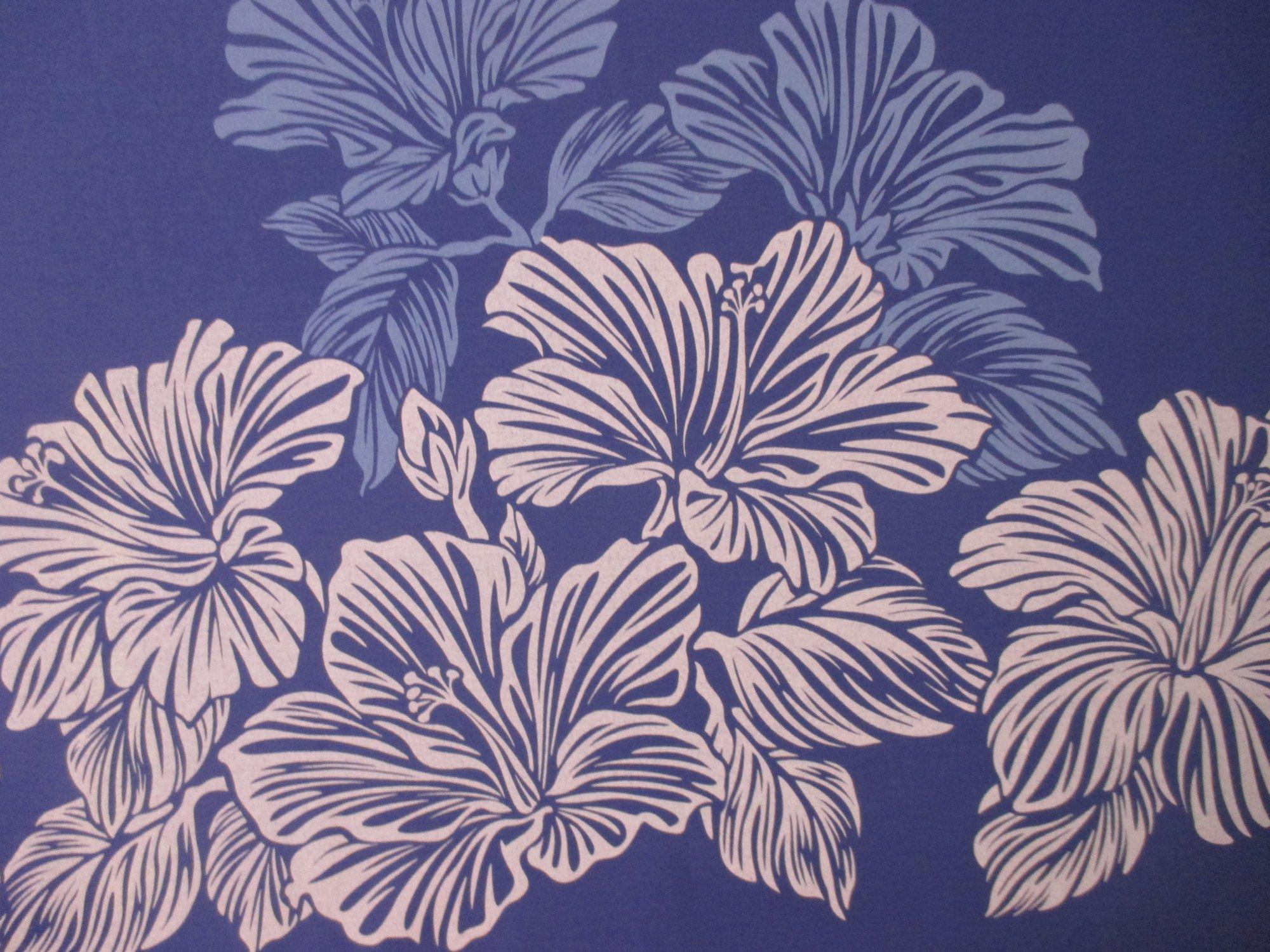 Large Hibiscus Border - Purple