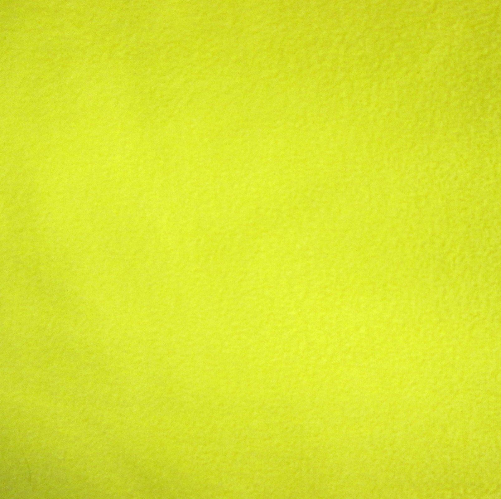 Solid Bright Yellow Fleece