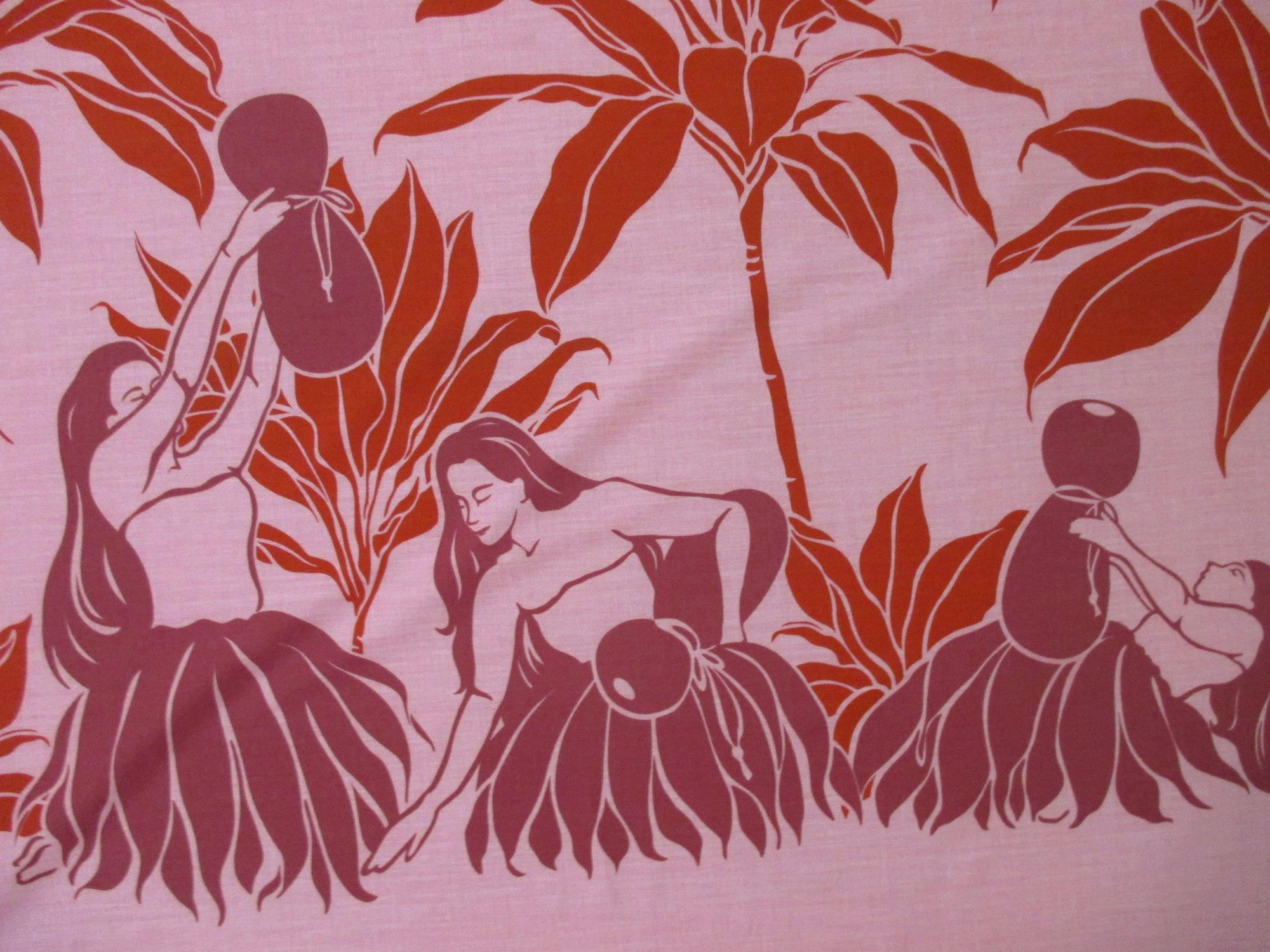 Hula Dancer Border Print - Pink