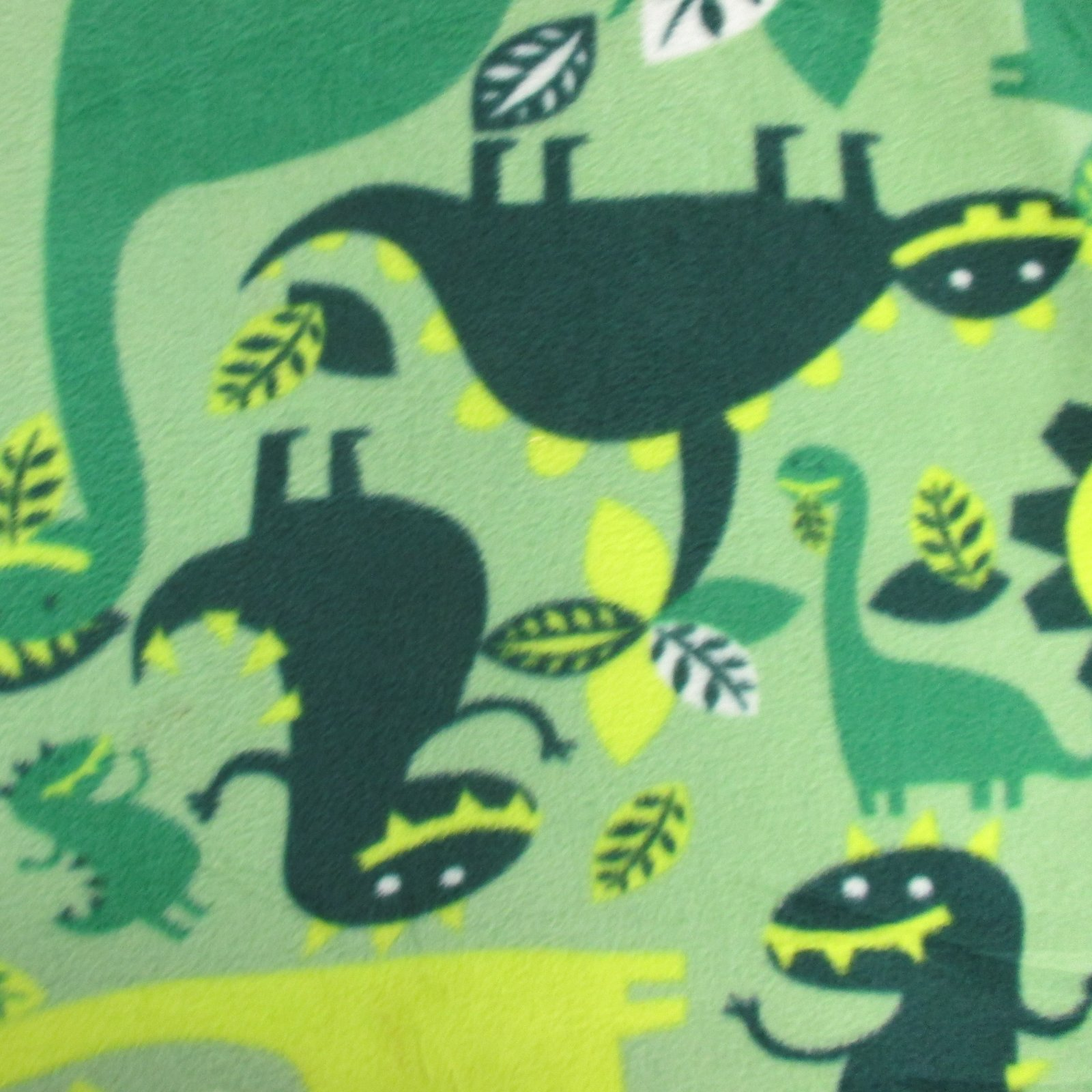 Green Dinosaur Fleece