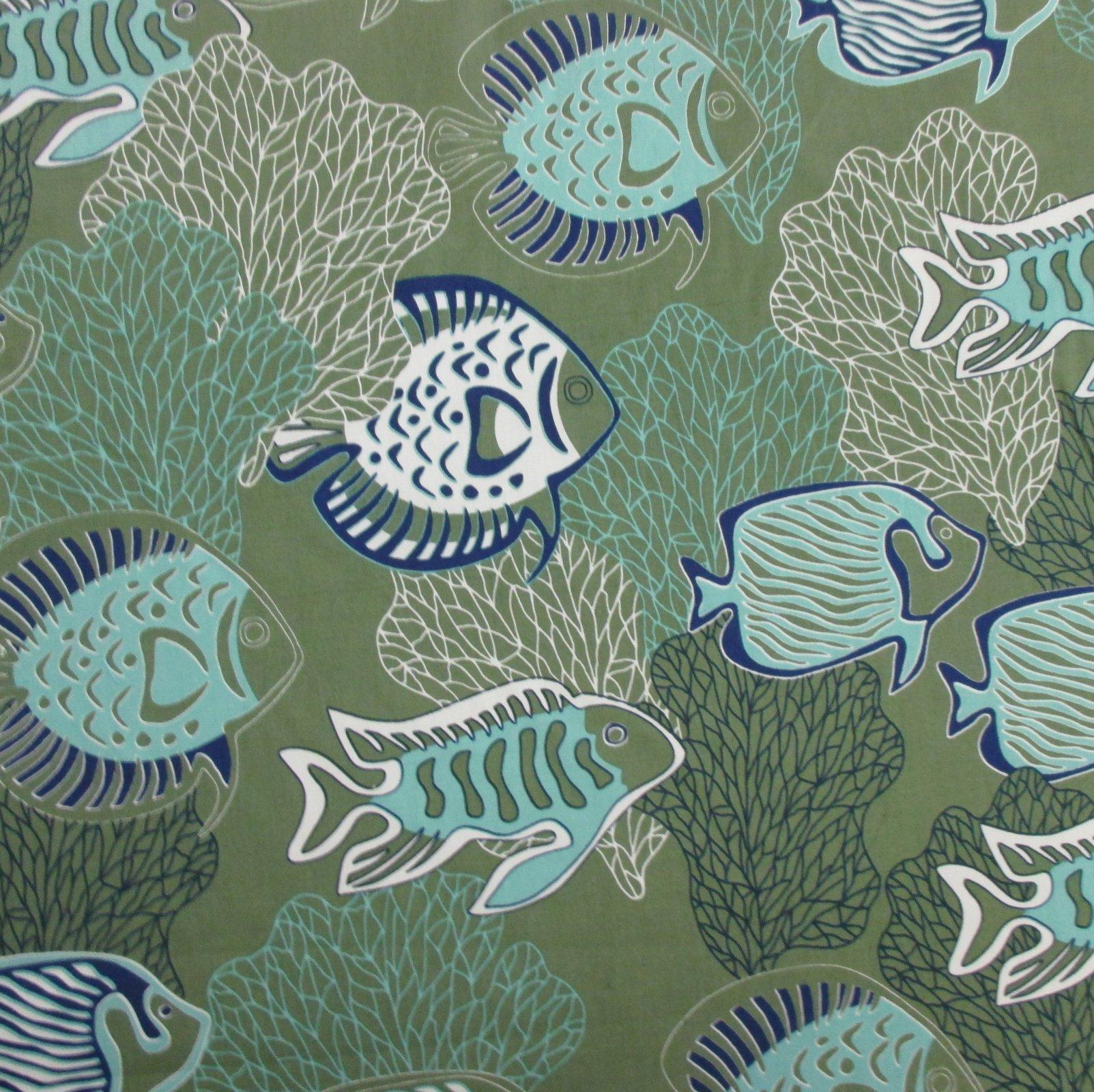 Fish & Coral Print - Green