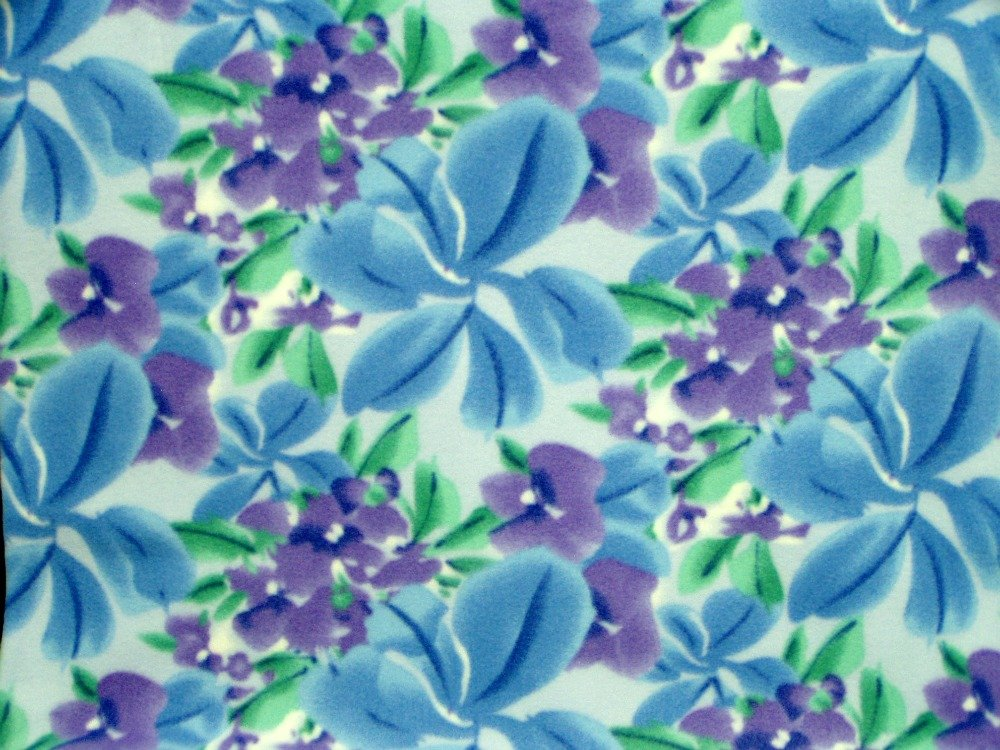 Floral Print - Blue / Purple