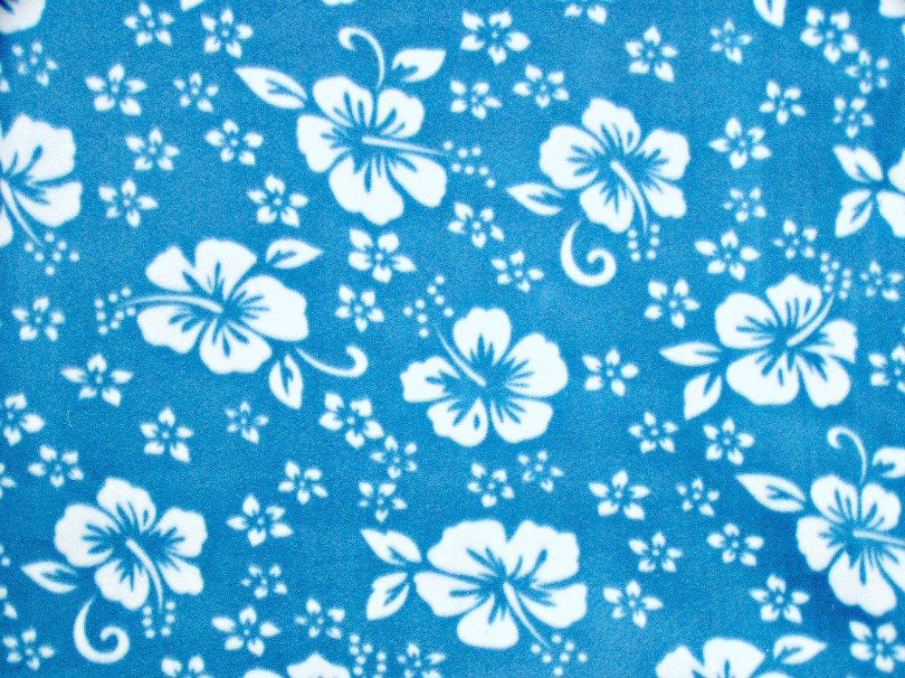 Classic Hibiscus Print - Aqua