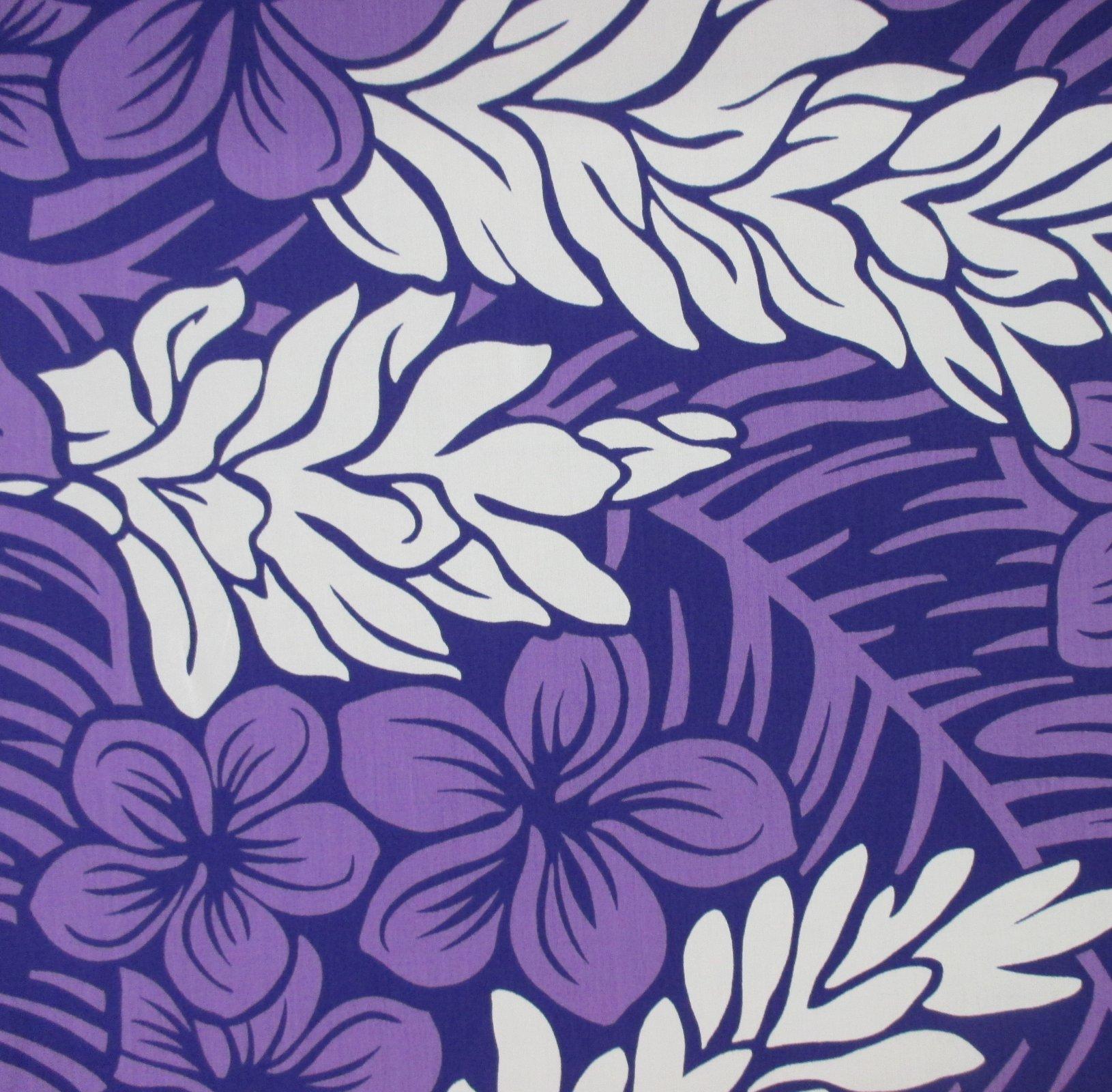 Flowers and Leaves - Purple