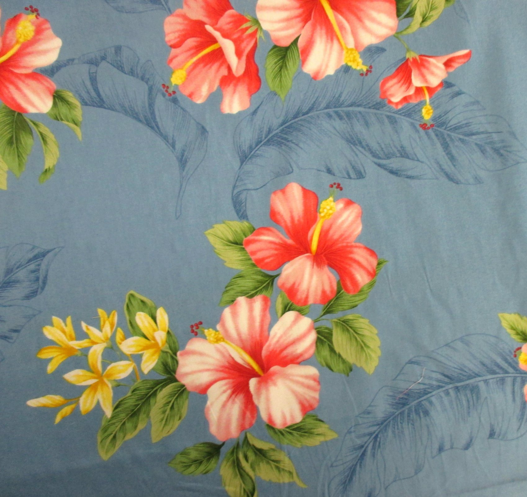 Hibiscus Floral Print - Light Blue