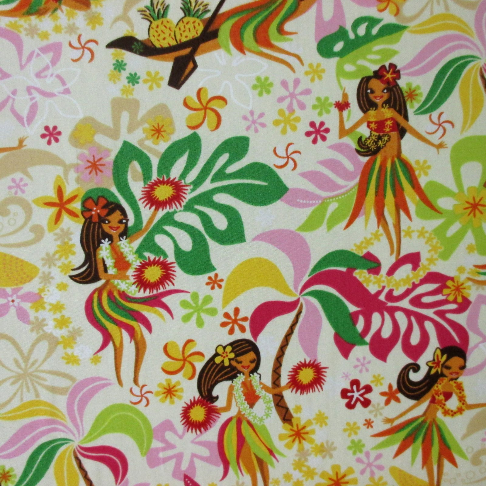Pretty Hula Dancer - Beige