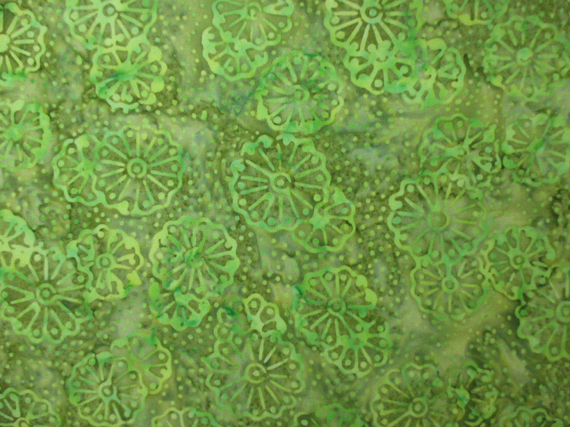 Diamond Bali Batiks - Green Geometric