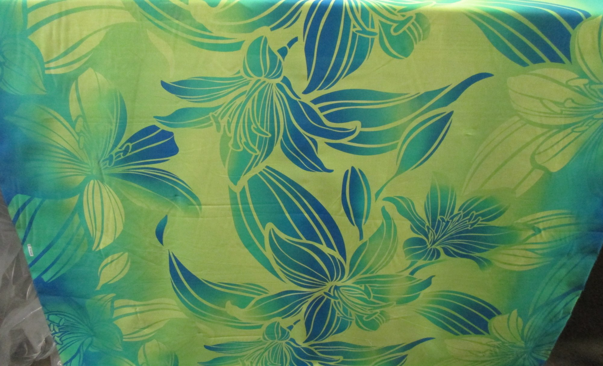 Floral Gradient - Lime/Turquoise