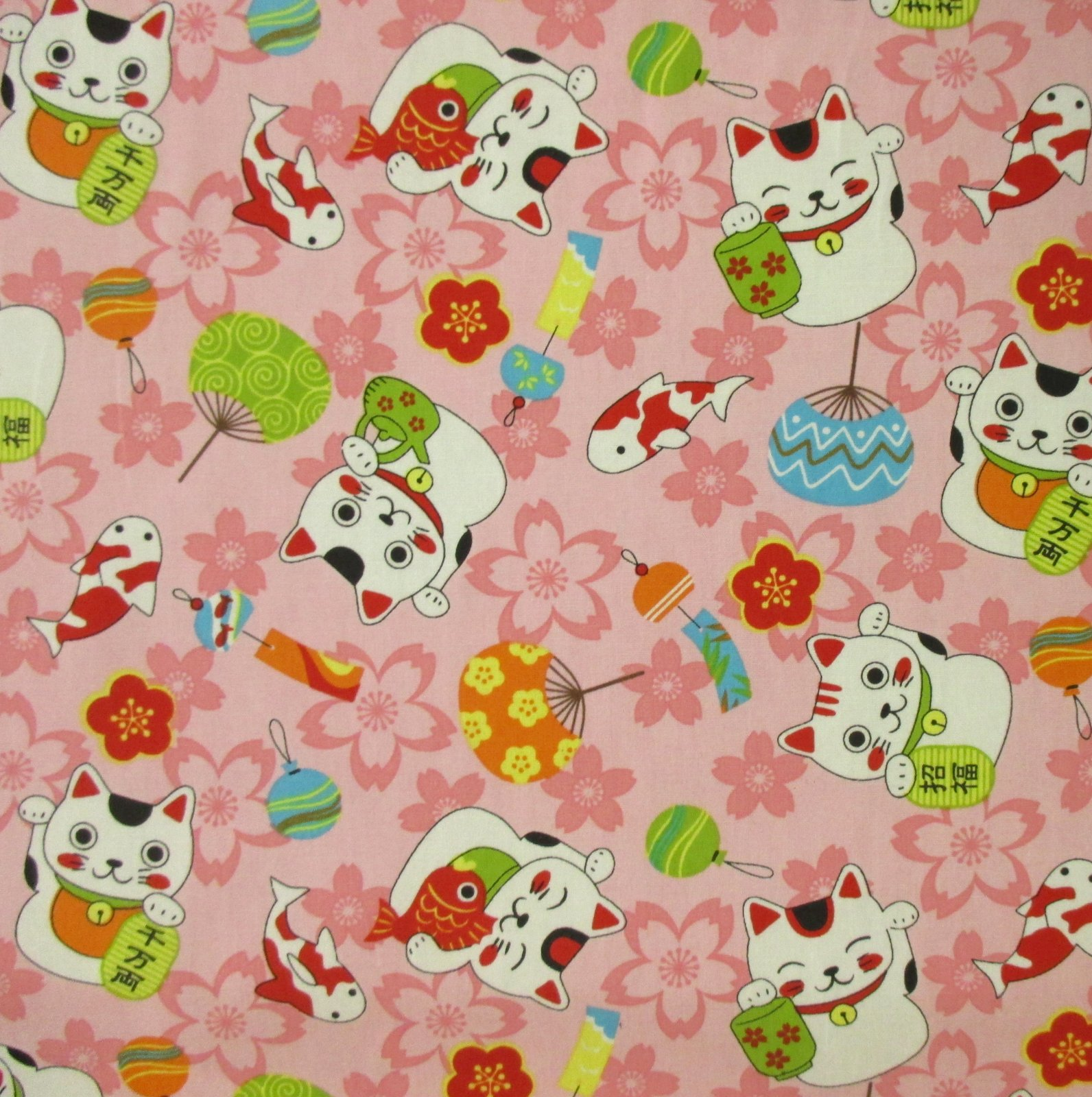 Maneki Neko (Lucky Cat) - Light Pink