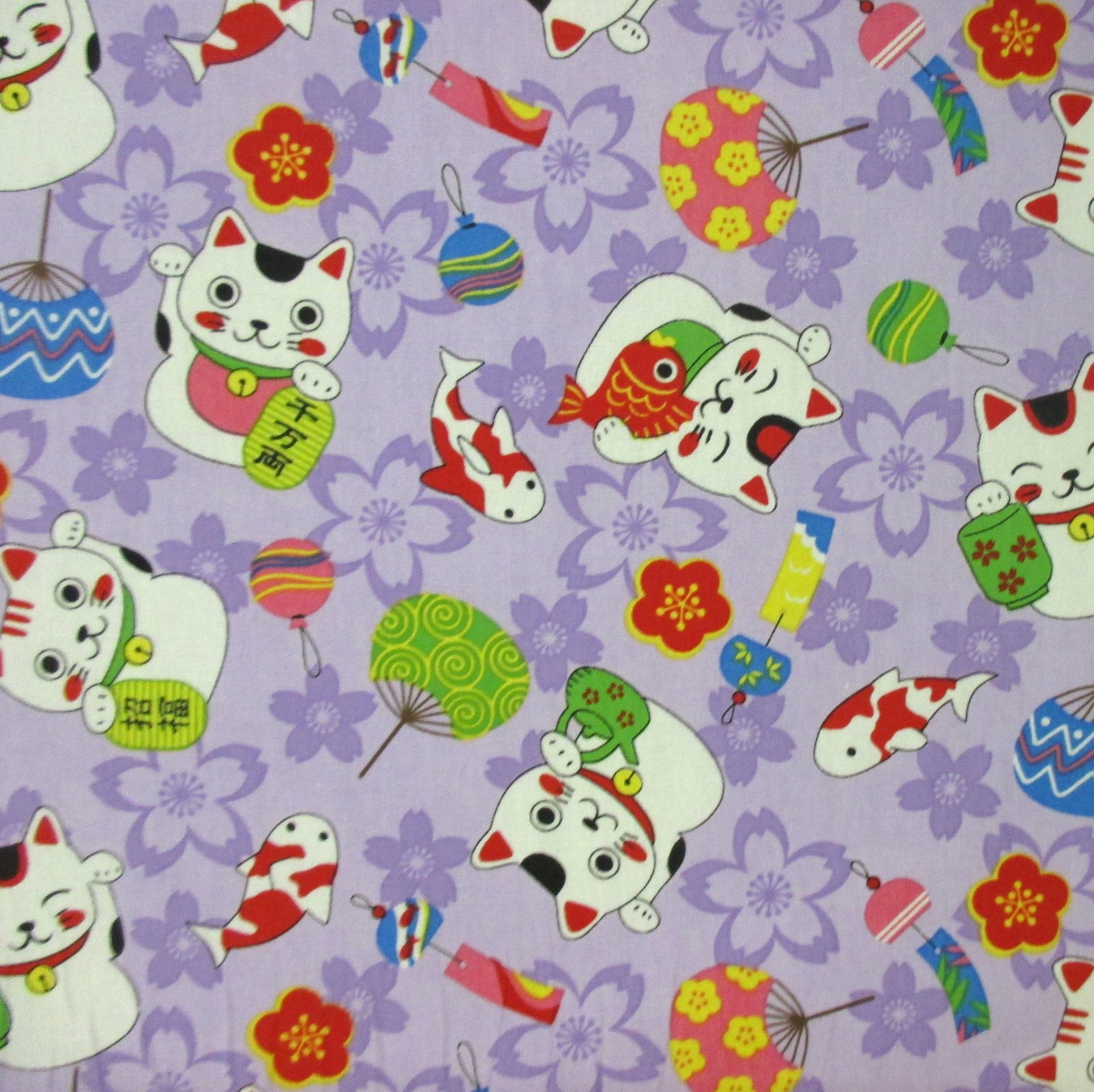 Maneki Neko (Lucky Cat) - Light Purple