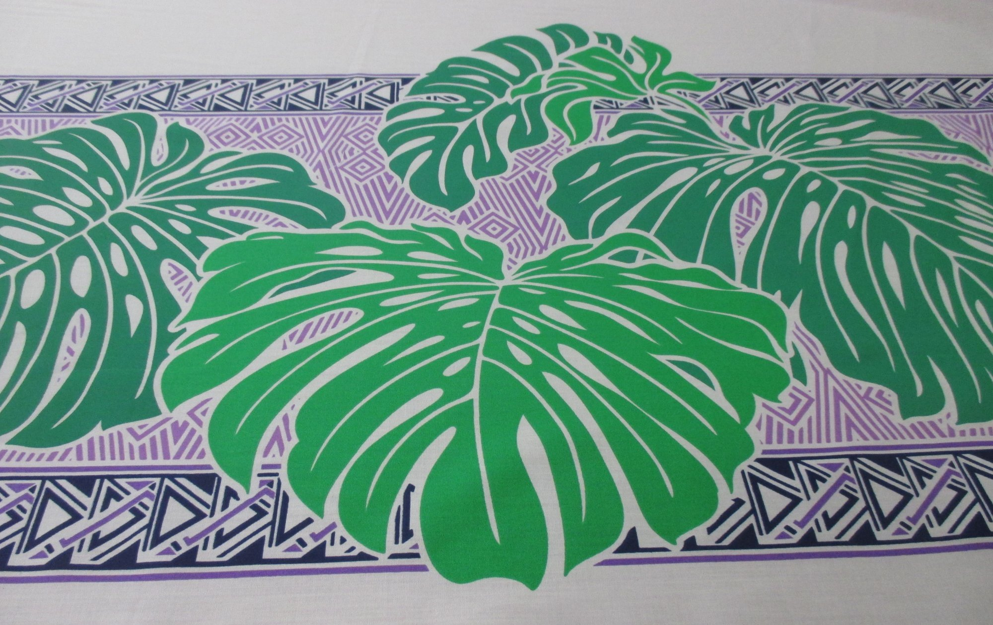 Large Monstera Border - Purple