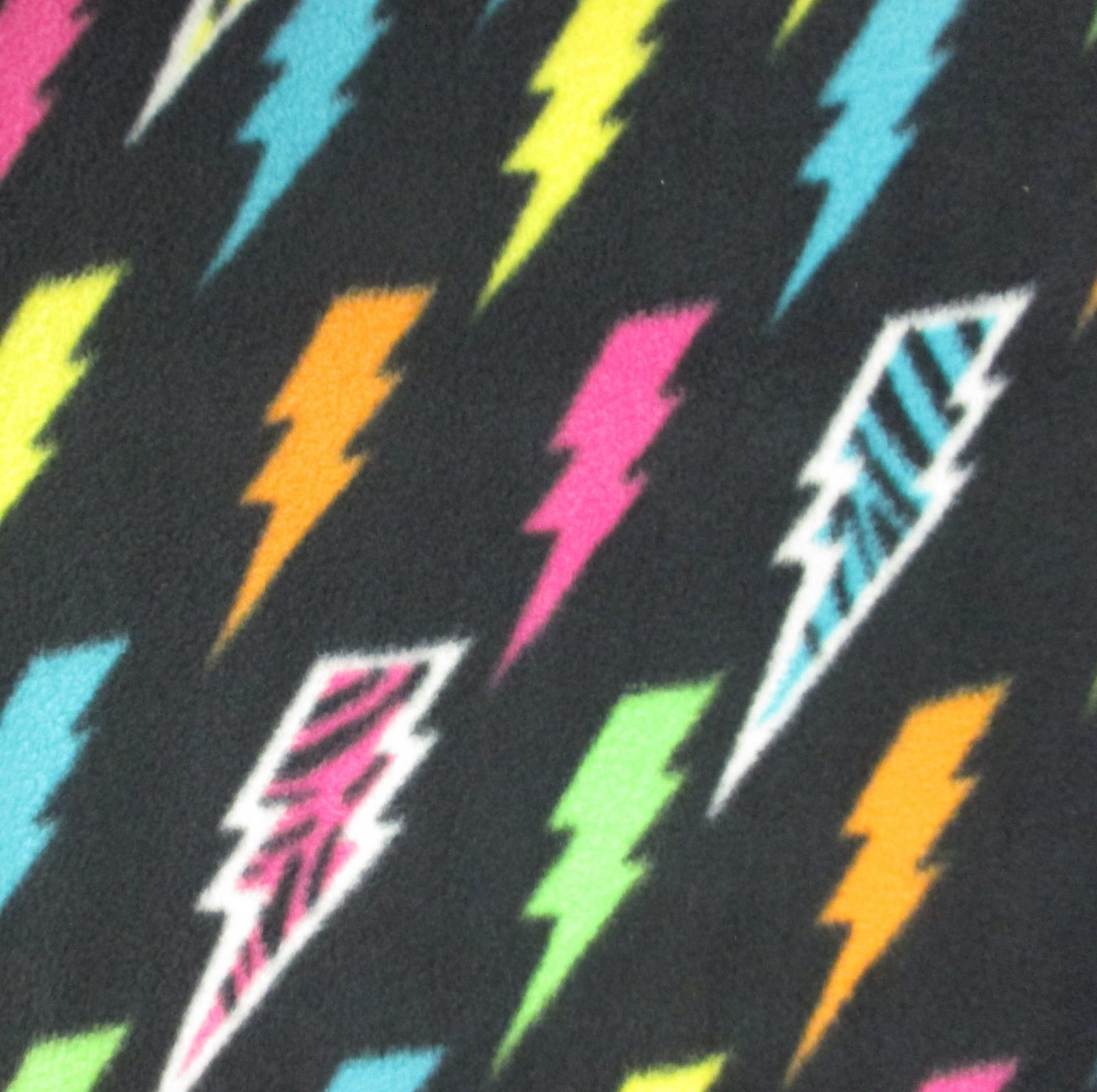 Neon Lightning Bolts Fleece