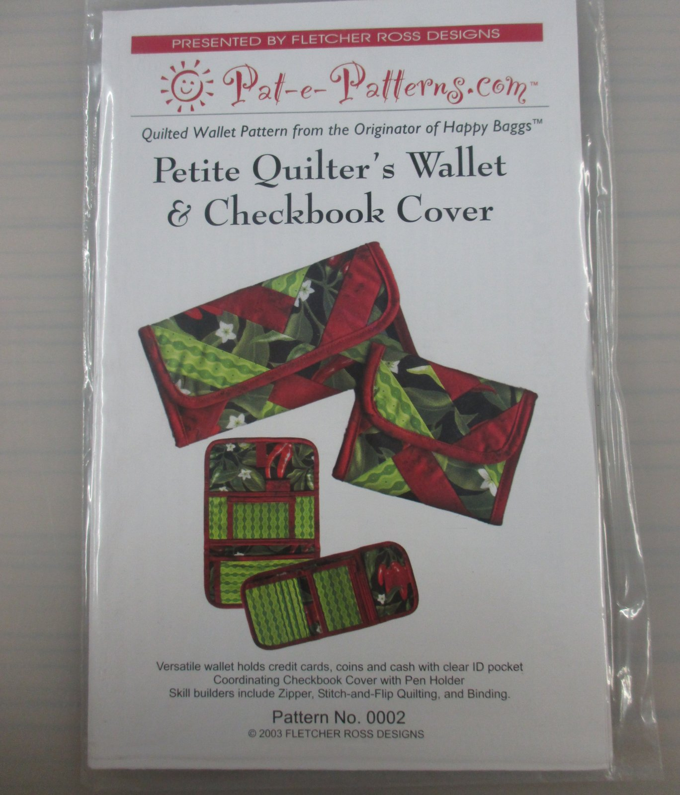 Petite Quilter's Wallet & Checkbook Cover