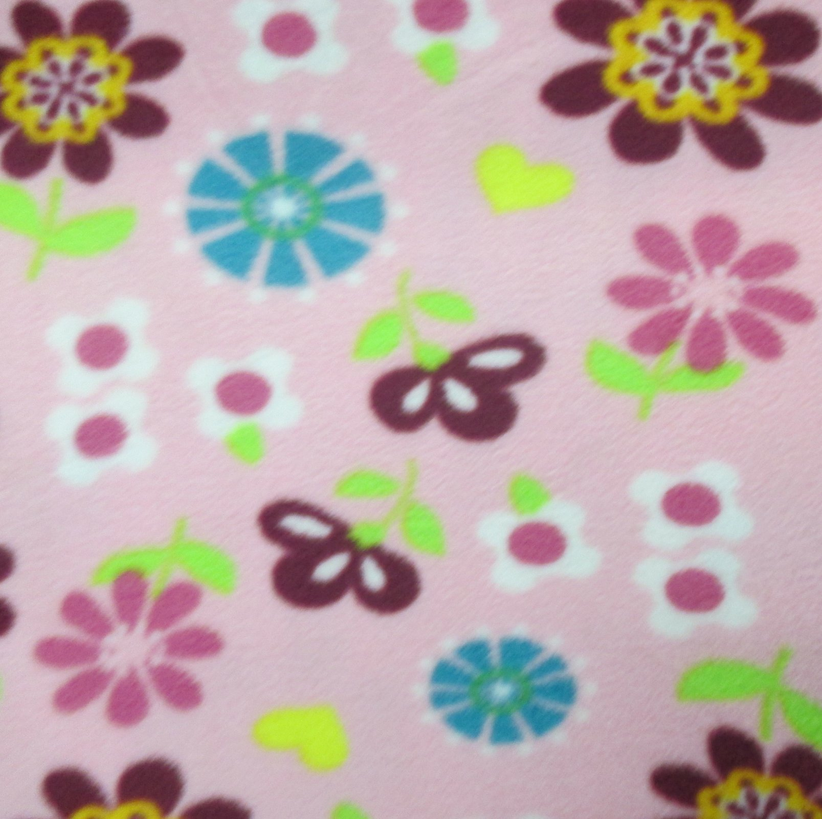 Pink Flower Fleece