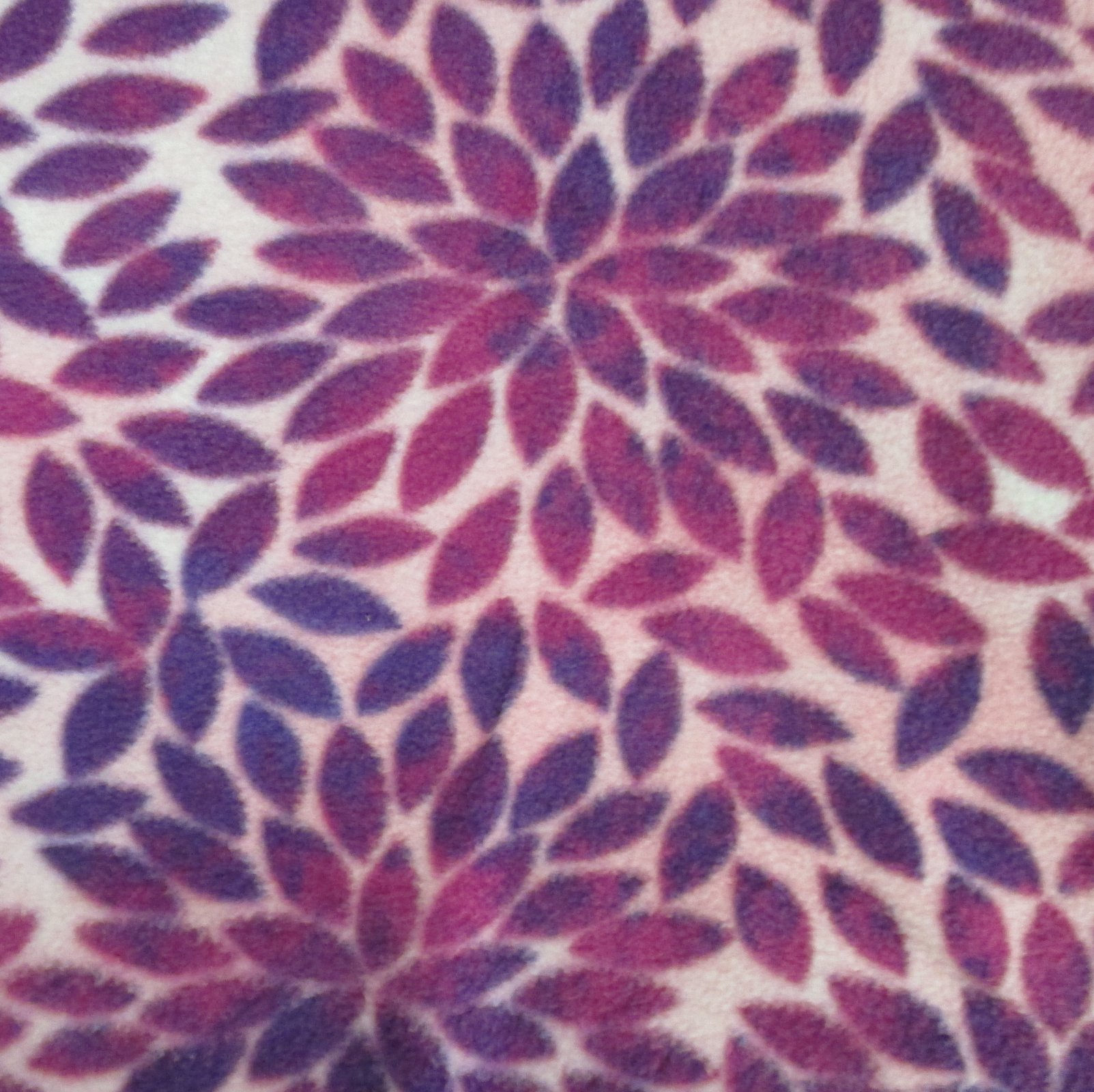 Purple Leaves Fleece