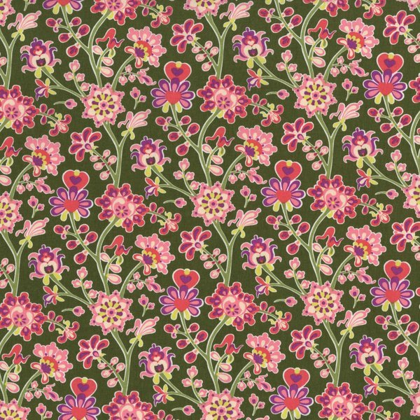 The Sultan's Garden - Flower Blooms - Pink and Green