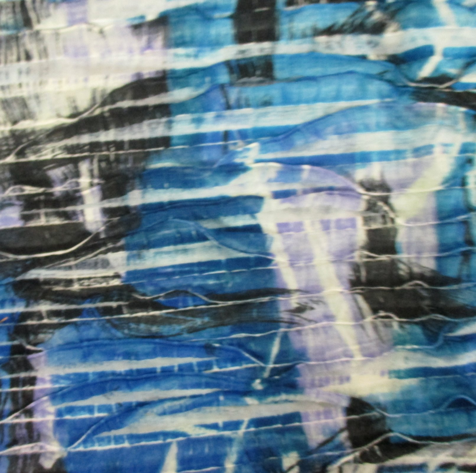 Fashion Ruffle Print - Blue