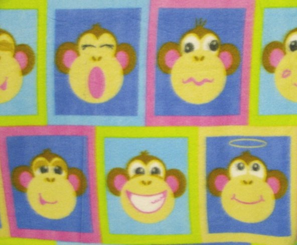 Monkey Faces - Block Print