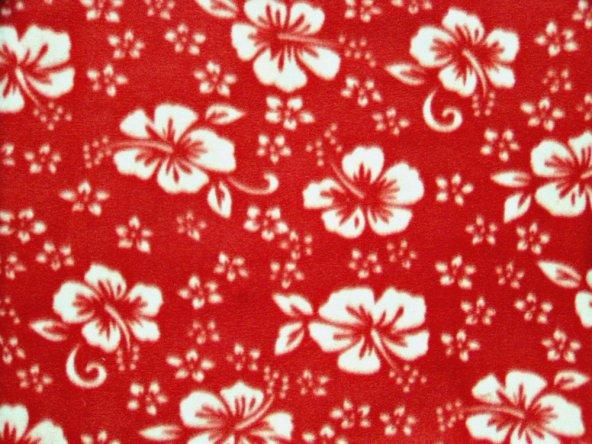 Classic Hibiscus Print - Bright Red