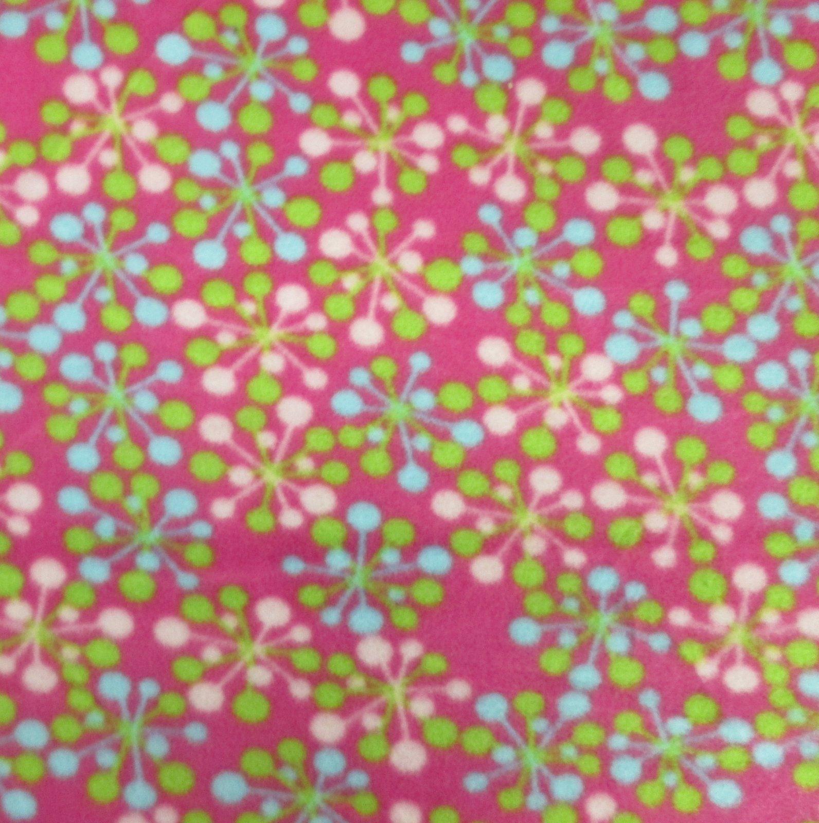 Pink Starbursts Fleece