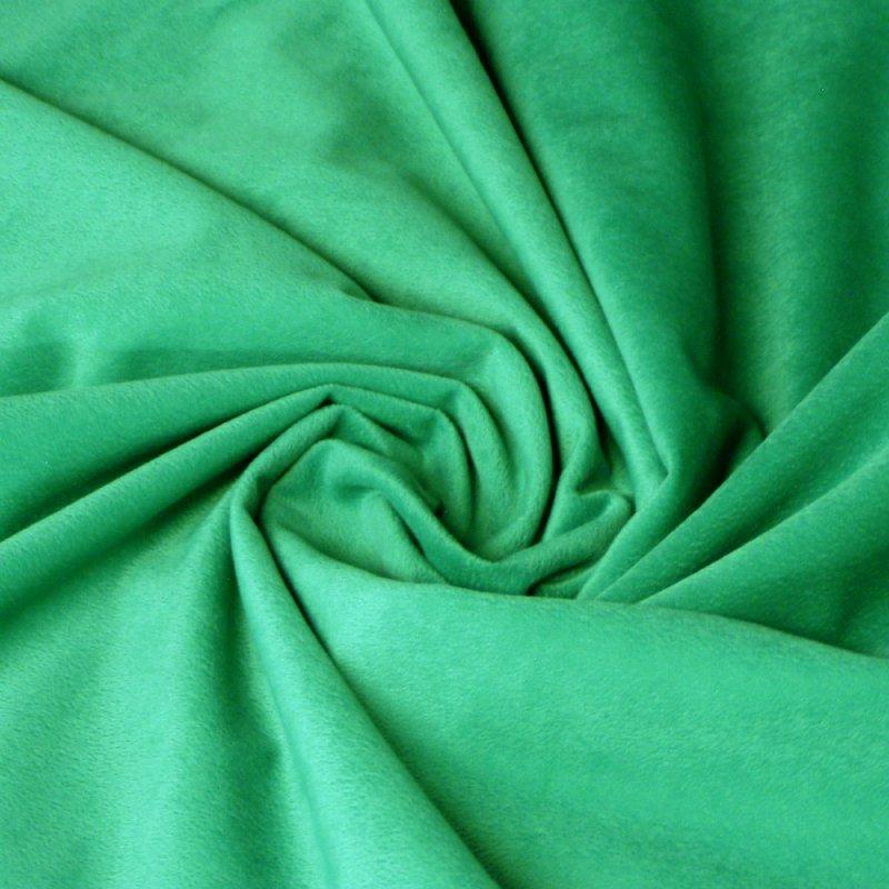 Faux Suede - Aqua Green