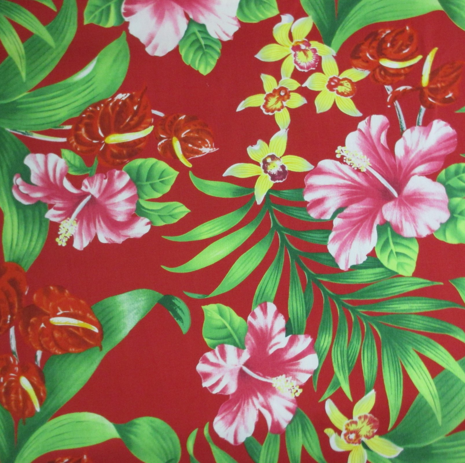 Tropical Flower Bouquet Red