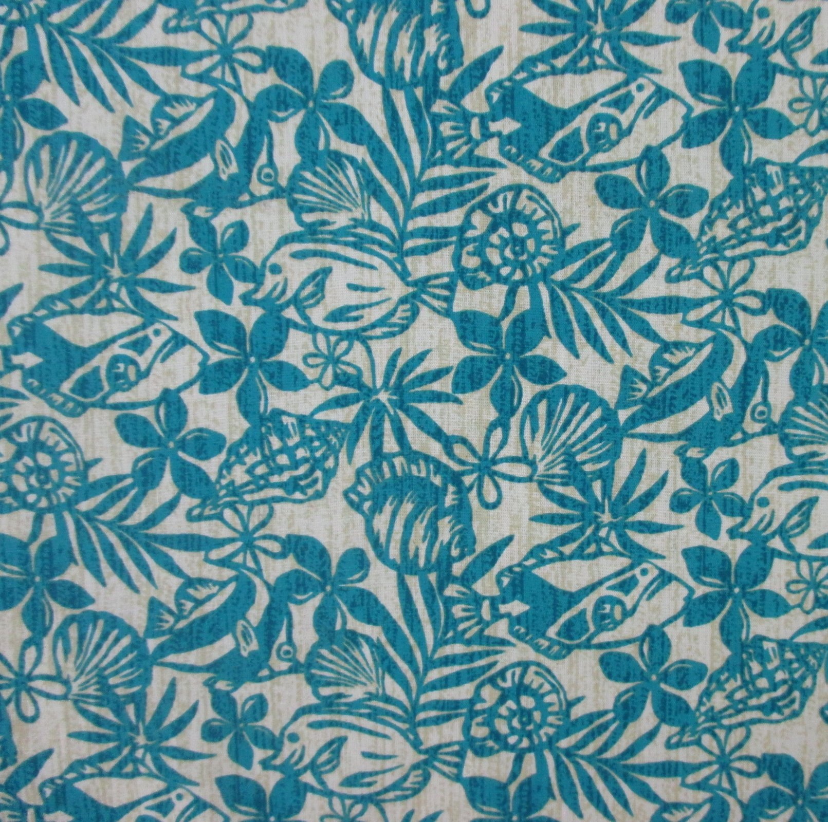 Small Tropical Sealife - Teal