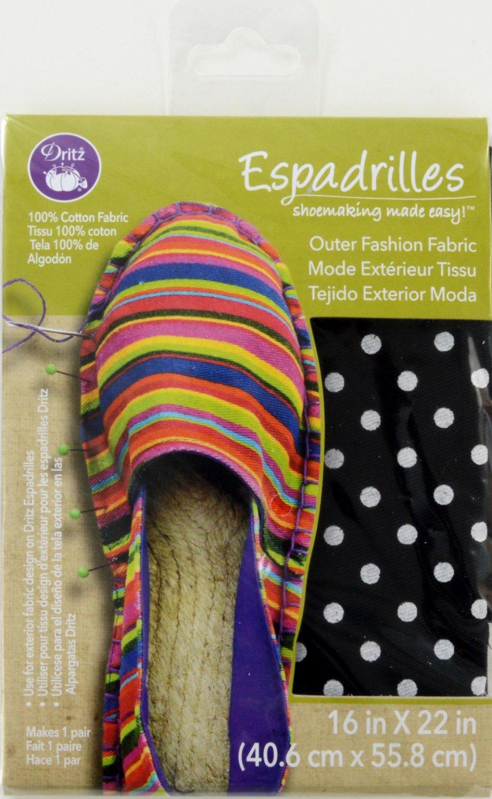 Espadrilles Shoemaking Outer Fashion Fabric Black