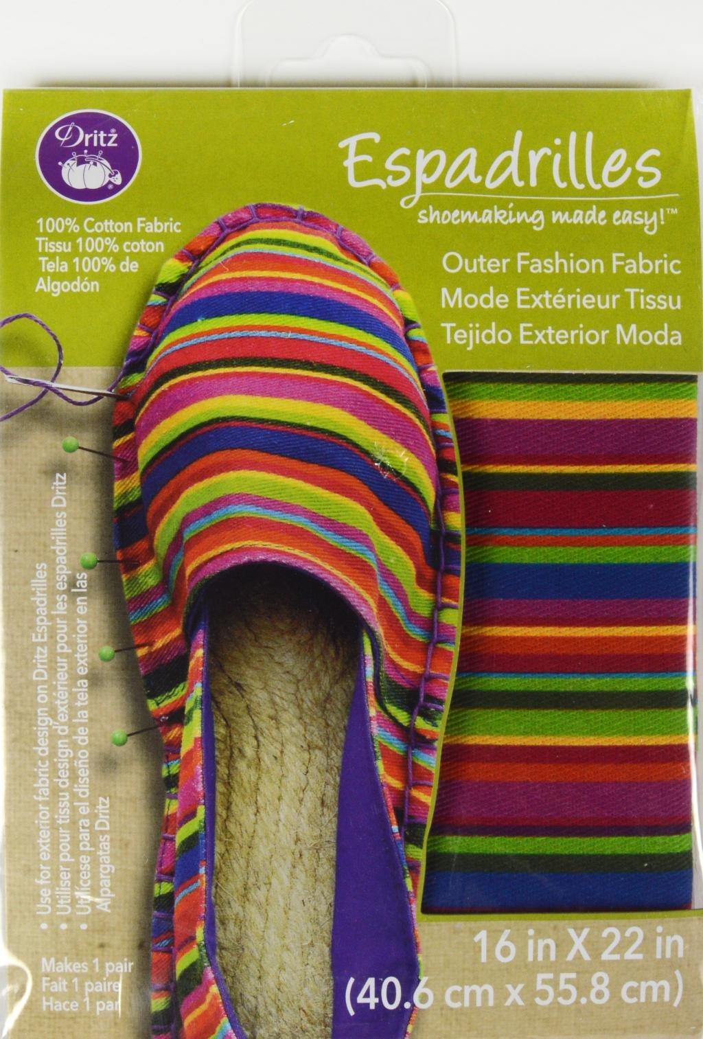 Espadrilles Shoemaking Outer Fashion Fabric Stripe