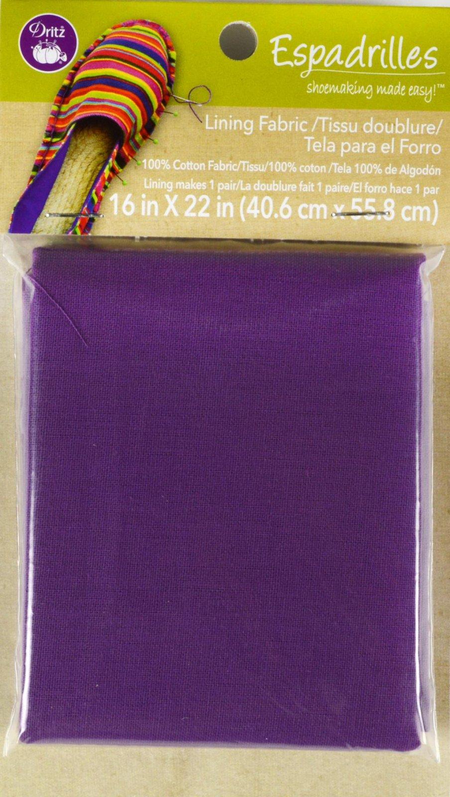 Espadrilles Lining Fabric Purple