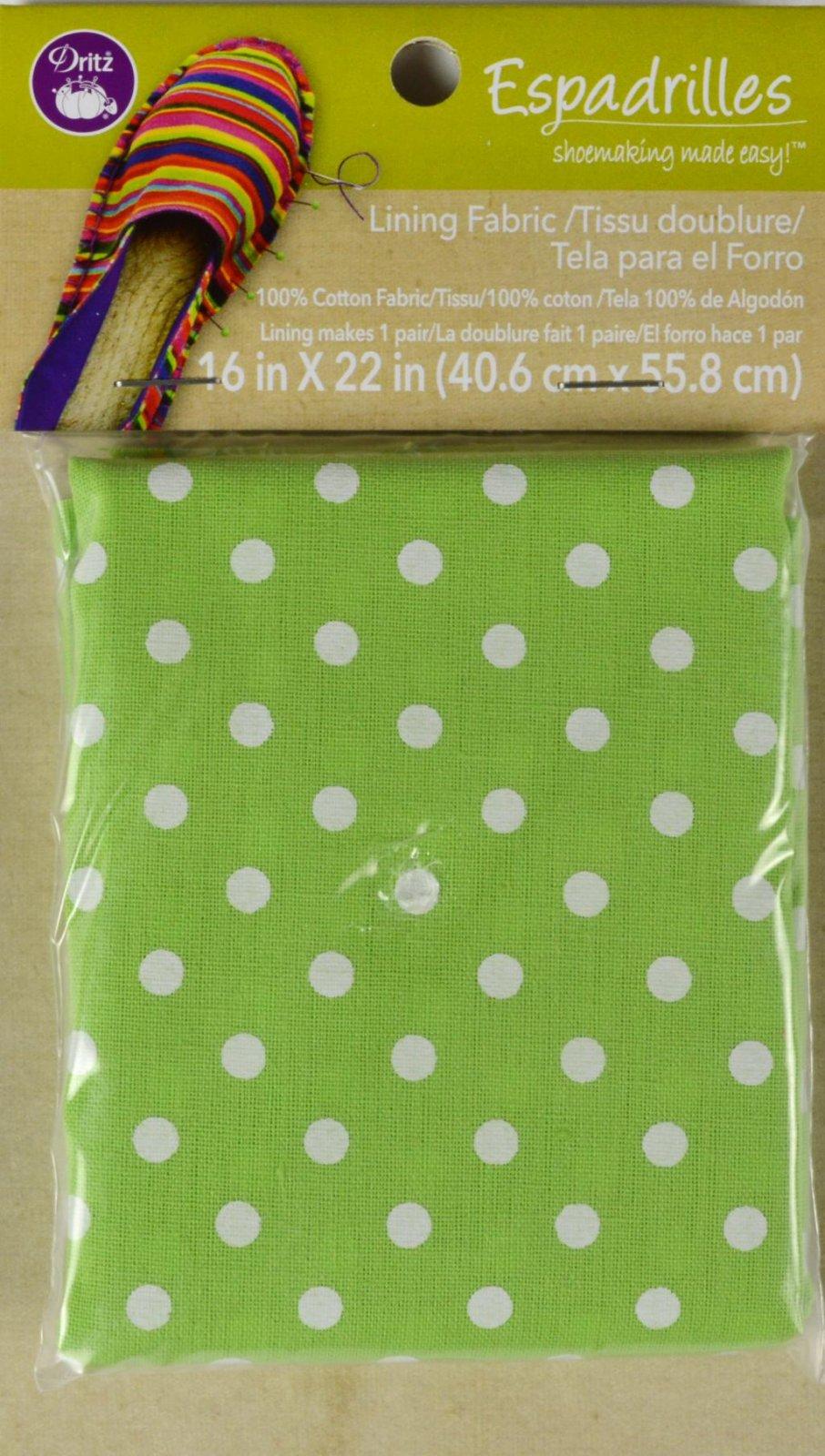 Espadrilles Lining Fabric Green