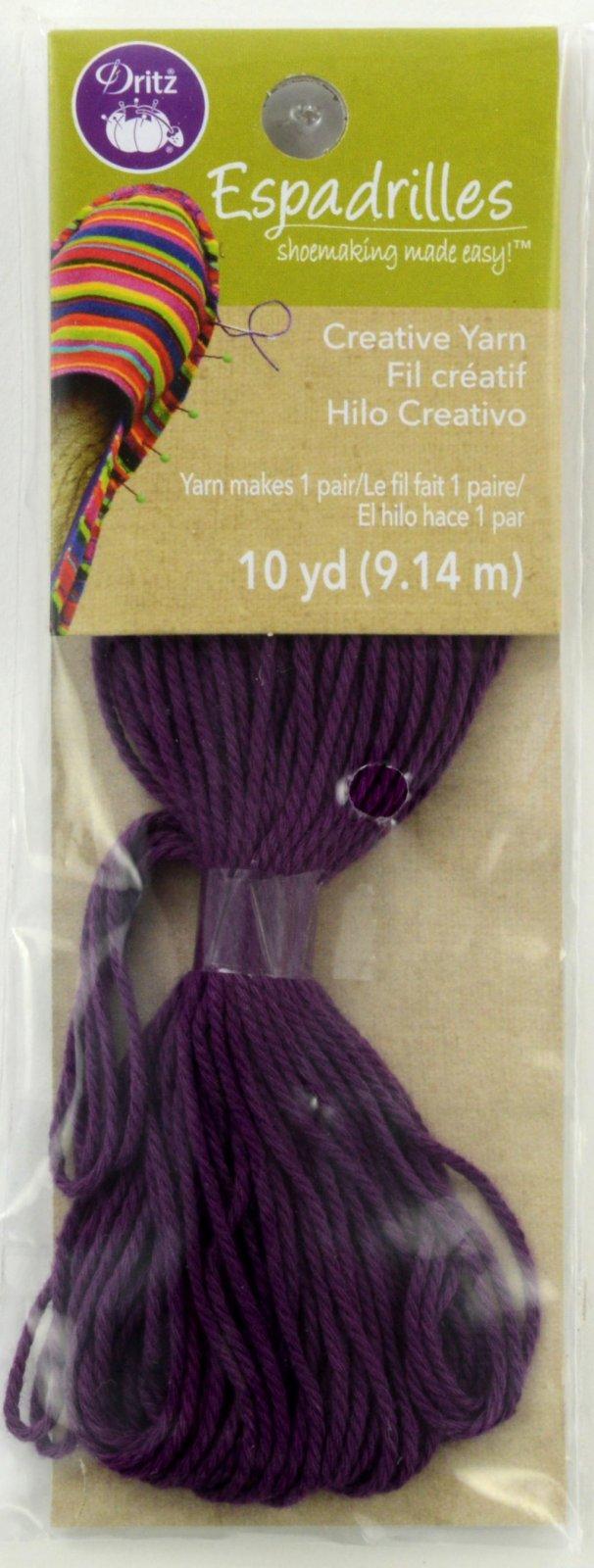 Espadrilles Shoemaking Creative Yarn Purple